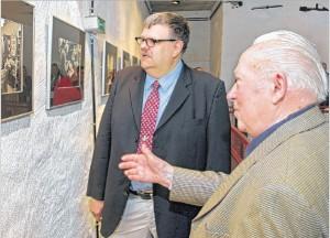 Fotograf Karl-Eckhard Niessner (links) und Albert Klevorn
