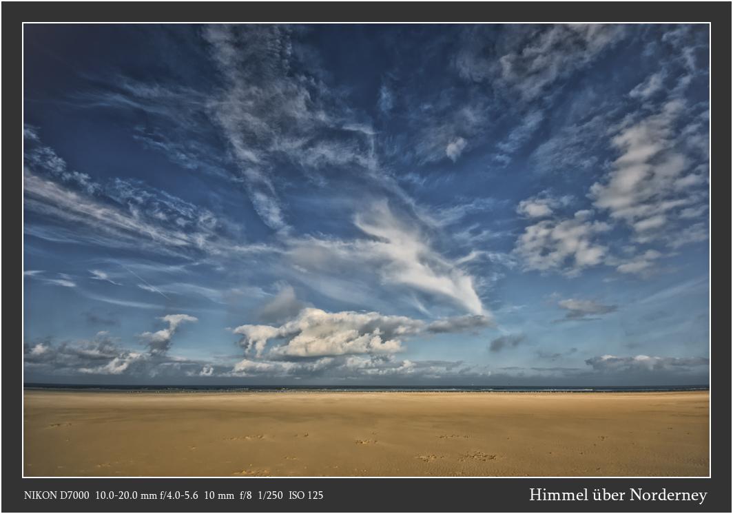 Himmel über Norderney