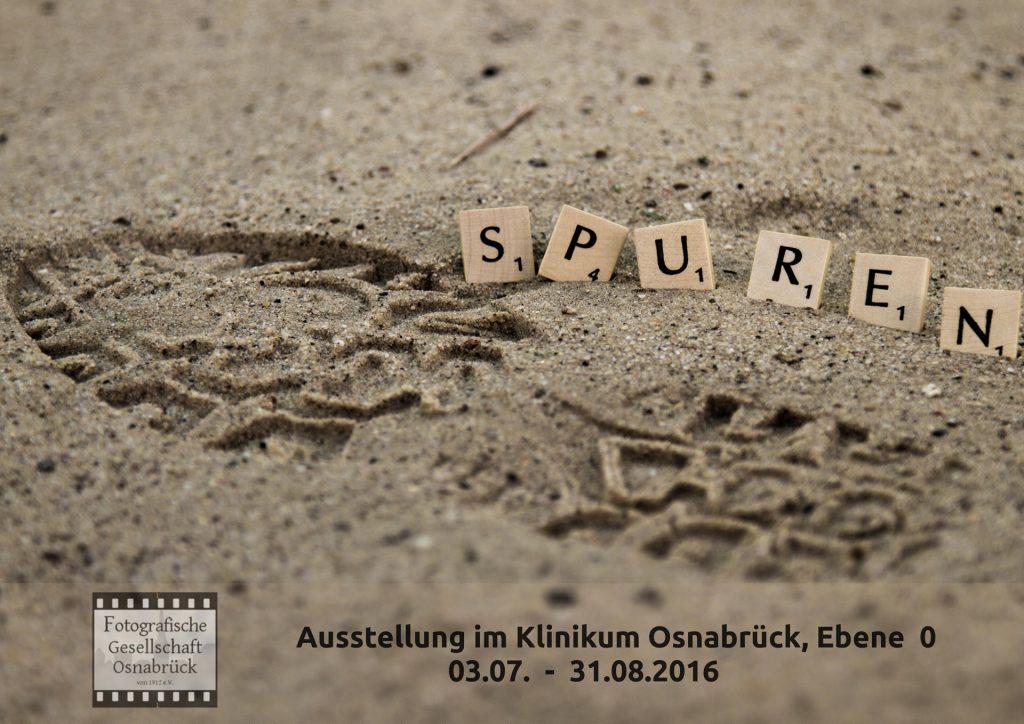 """Ausstellungsplakat """"Spuren"""""""