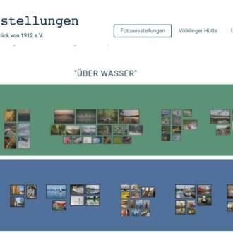 Website zur Wasser-Ausstellung